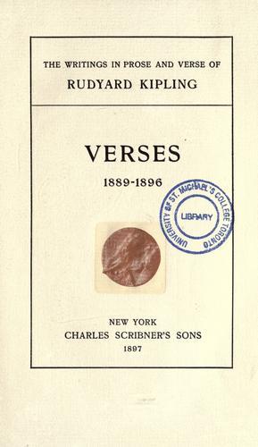 Verses, 1889-1896.