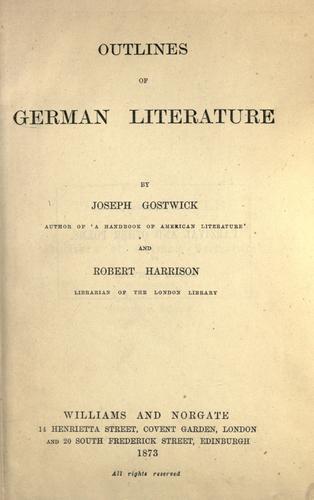 Outlines of German literature