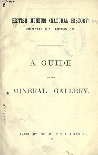 Download A guide to the mineral gallery.