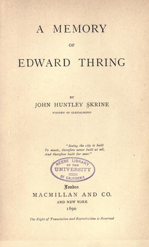 Download A memory of Edward Thring
