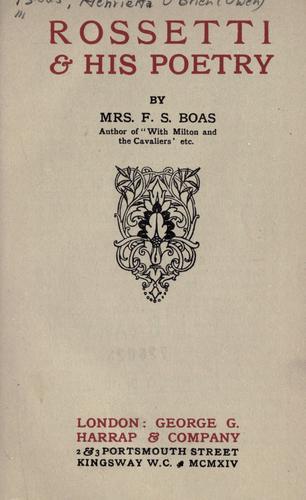 Rossetti & his poetry.