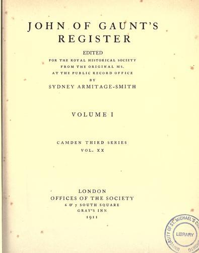 Download John of Gaunt's register