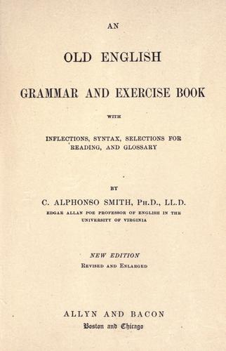 An  Old English grammar and exercise book