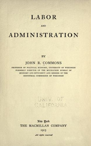 Download Labor and administration