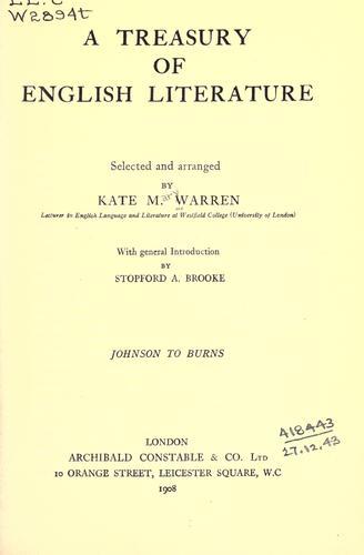 A treasury of English literature …