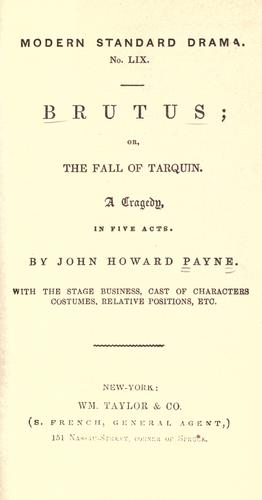 Brutus, or, the fall of Tarquin