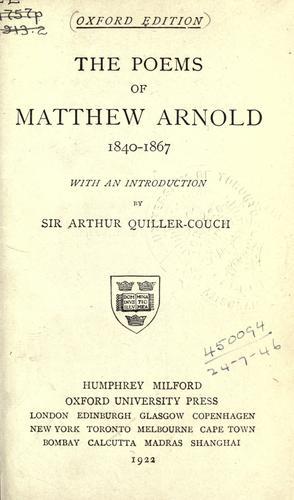 Poems, 1840-1867.