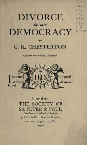 Divorce versus democracy.