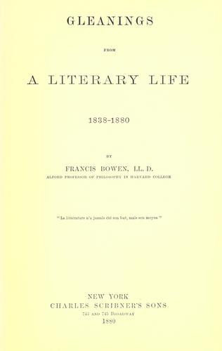 Download Gleanings from a literary life, 1838-1880