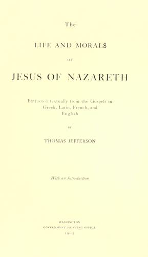 Download The life and morals of Jesus of Nazareth