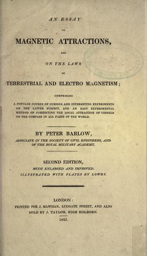 Download An essay on magnetic attractions, and on the laws of terrestrial and electro magnetism