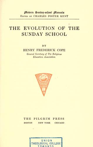 Download The evolution of the Sunday school.
