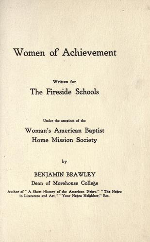 Download Women of achievement