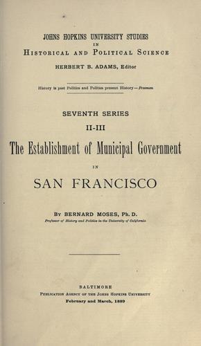 Download The establishment of municipal government in San Francisco