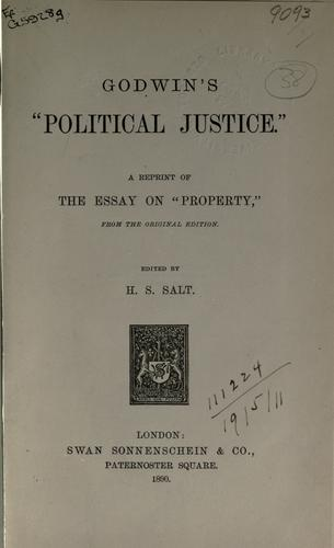 """Download Godwin's """"Political justice"""""""