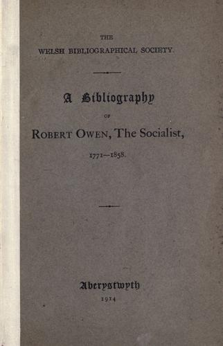 Download A bibliography of Robert Owen