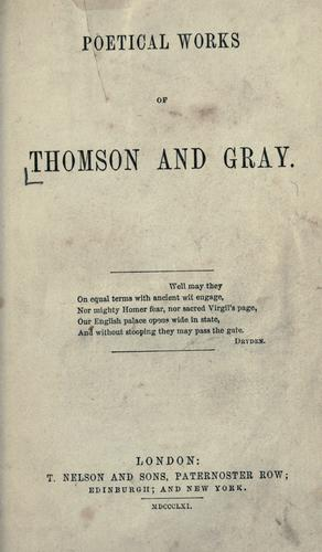 Poetical works of Thomson and Gray.