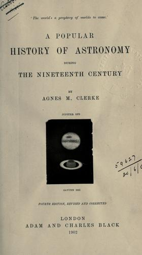 Download A popular history of astronomy during the nineteenth century.