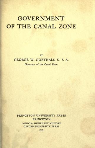 Government of the Canal Zone.