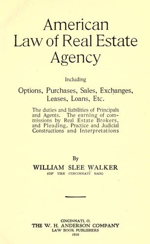 American law of real estate agency