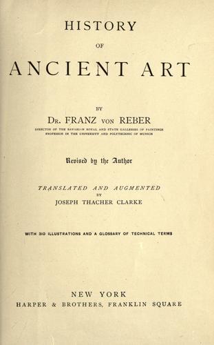 History of ancient art