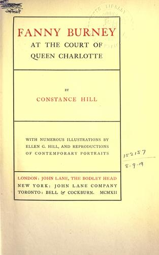 Fanny Burney at the court of Queen Charlotte.