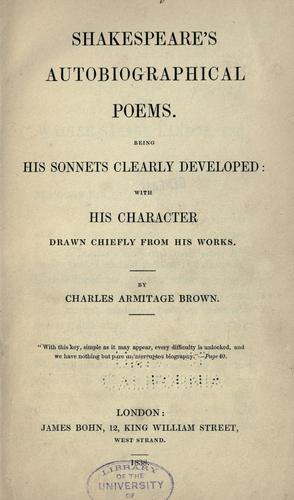 Download Shakespeare's autobiographical poems.