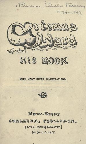 Download Artemus Ward, his book.
