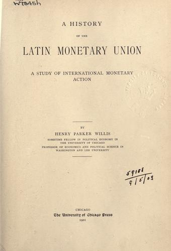 Download A history of the Latin Monetary Union