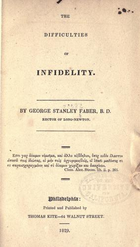 Download The difficulties of infidelity.