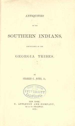 Download Antiquities of the southern Indians