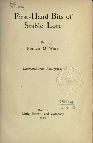 Download First-hand bits of stable lore