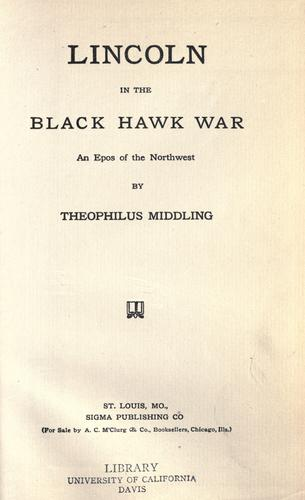Download Lincoln in the Black Hawk war