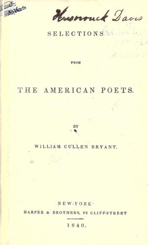Selections from the American poets.