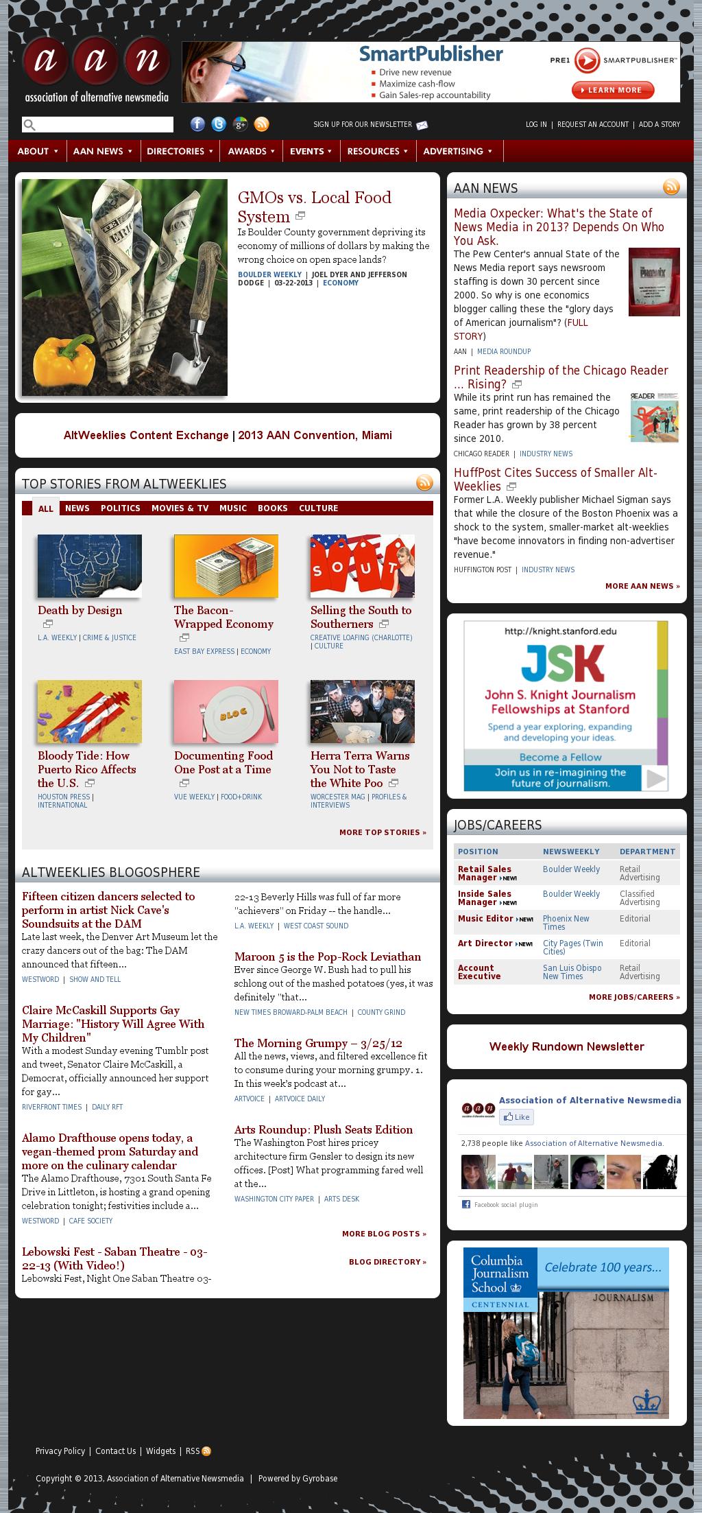 Association of Alternative Newsmedia at Monday March 25, 2013, 2:08 p.m. UTC