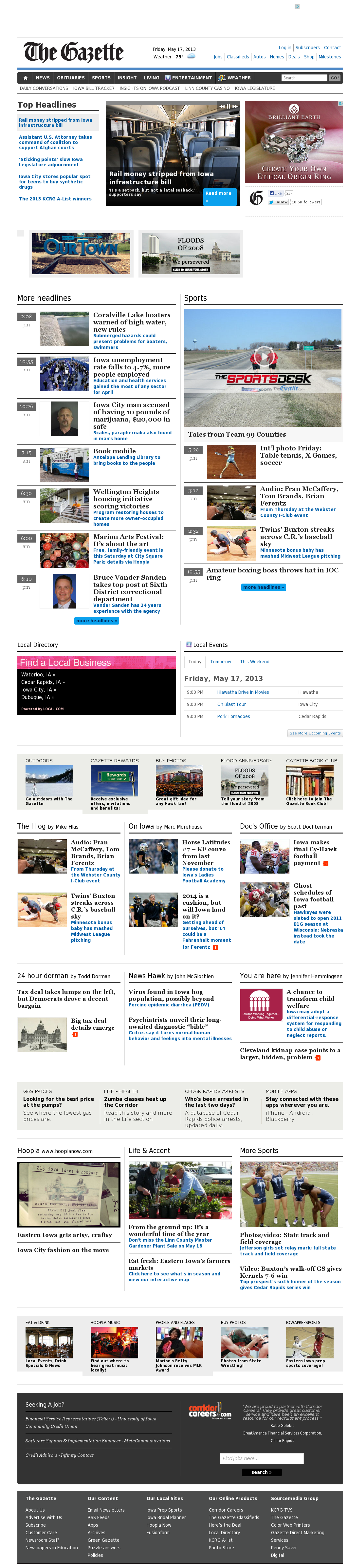 The (Cedar Rapids) Gazette at Saturday May 18, 2013, 1:08 a.m. UTC