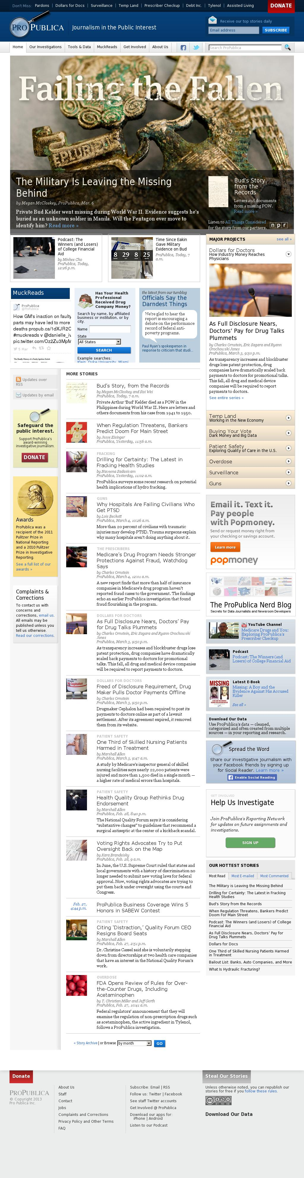 ProPublica at Thursday March 6, 2014, 9:14 p.m. UTC