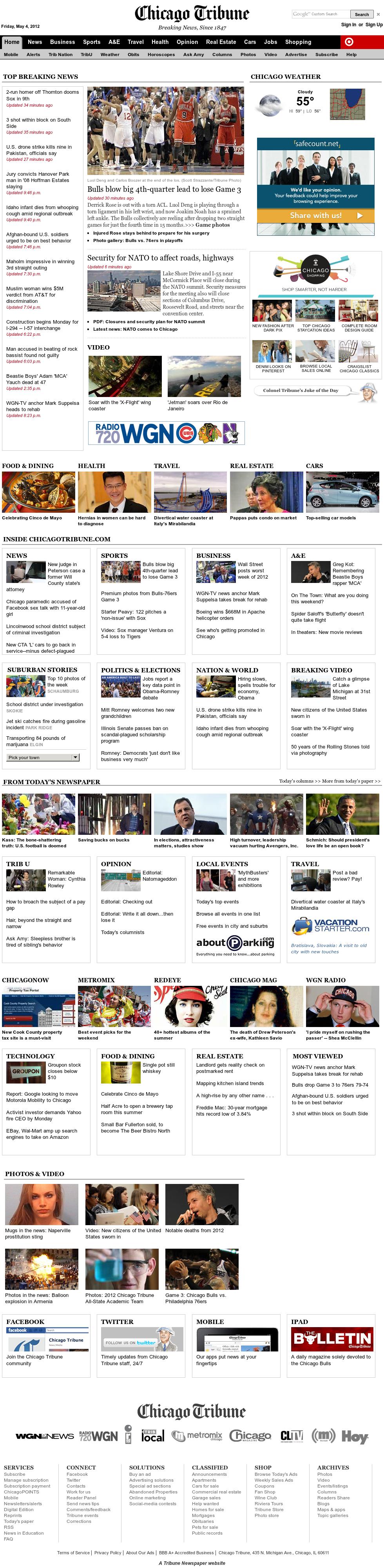 Chicago Tribune at Saturday May 5, 2012, 4:01 a.m. UTC