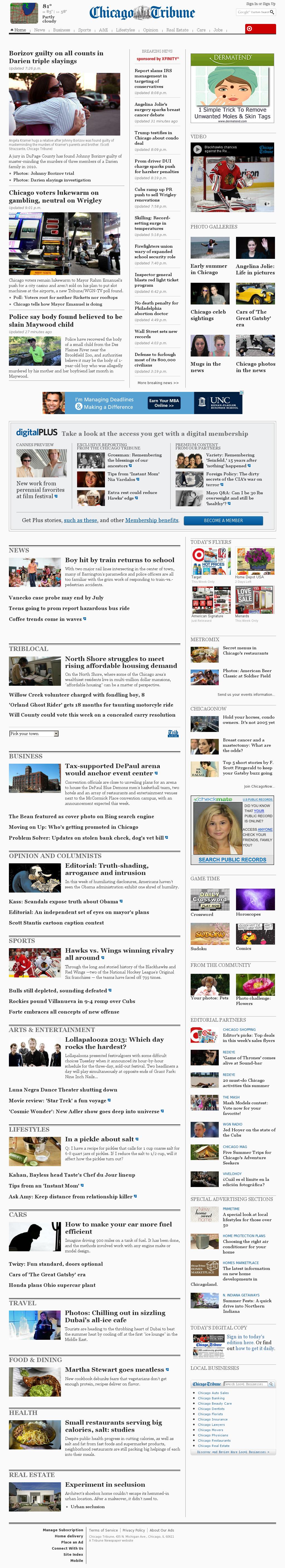 Chicago Tribune at Wednesday May 15, 2013, 3:03 a.m. UTC