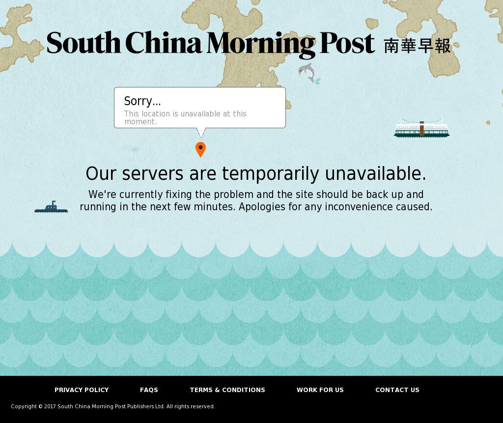South China Morning Post at Tuesday Aug. 22, 2017, 12:20 p.m. UTC