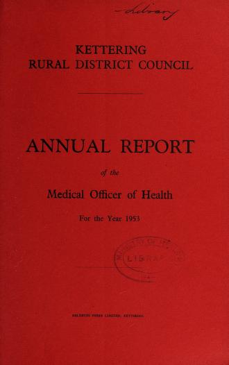 Cover of: [Report 1953] | Kettering (England). Rural District Council