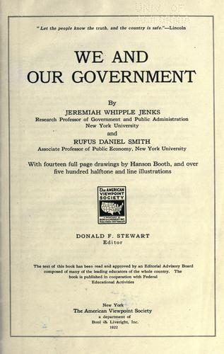 We and our government