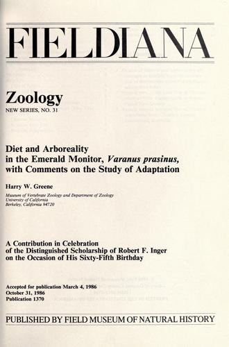 Diet and arboreality in the emerald monitor, Varanus prasinus by Greene, Harry W.