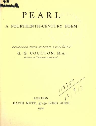 Pearl, a fourteenth-century poem by