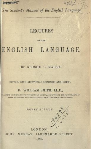 Lectures on the English language.
