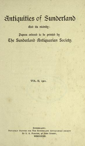Antiquities of Sunderland and its vicinity by