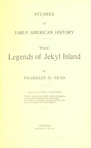 Studies in early American history by Franklin H. Head